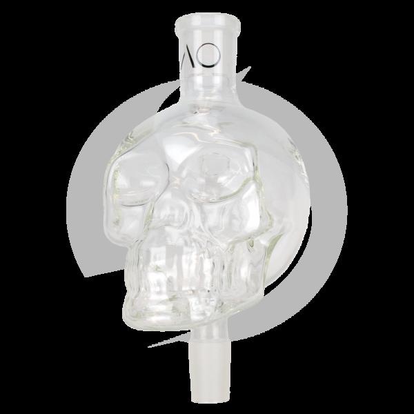 AO Glas Molassefänger 18/8 Skull Big - Clear