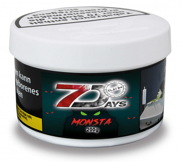7 Days Tabak Platin 200g - Monsta