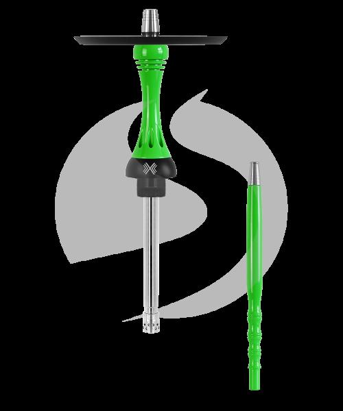 Alpha Hookah Model X Rauchsäulenset - Green Fluor