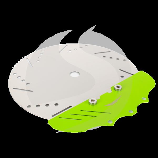 Alligator Edelstahl Teller Bremsscheibe - Grün
