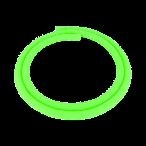 Silikonschlauch Matt - Transparent Grün