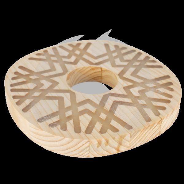 Cyborg Hookah Wood Plate - Glow Circle