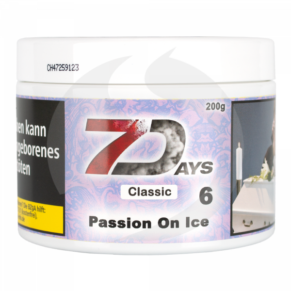 7 Days Tabak Classic 200g - Passion on Ice (6)