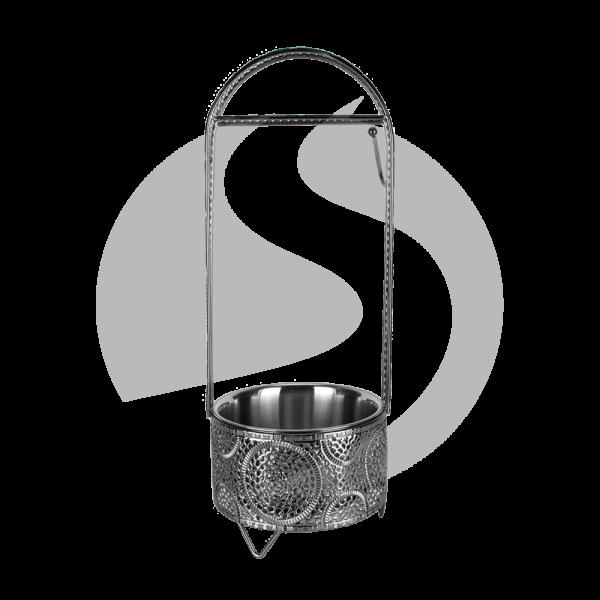 Cyborg Hookah Kohlebehälter - Circle Black Klein