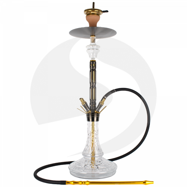 The Hookah Black Mamba - Black/Gold