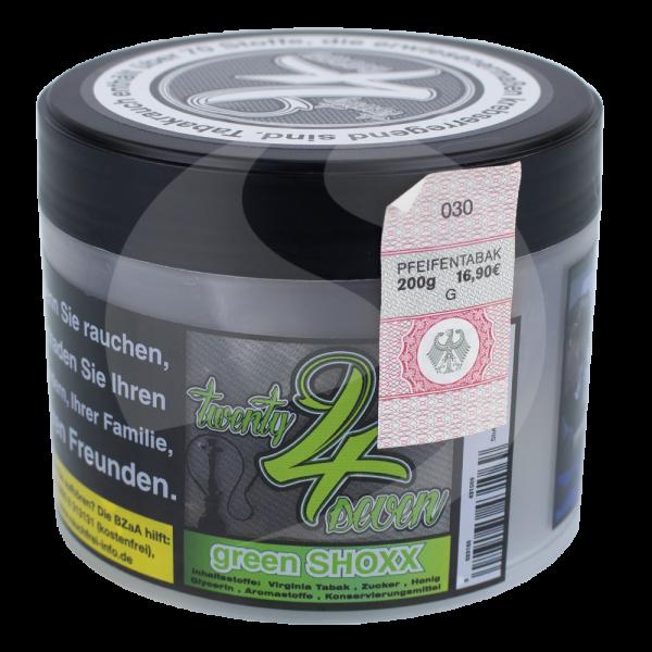 Twenty 4 Seven Tobacco 200g - Green Shoxx