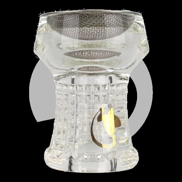 Dschinni Glaskopf Nero Eco (Kristallglas)
