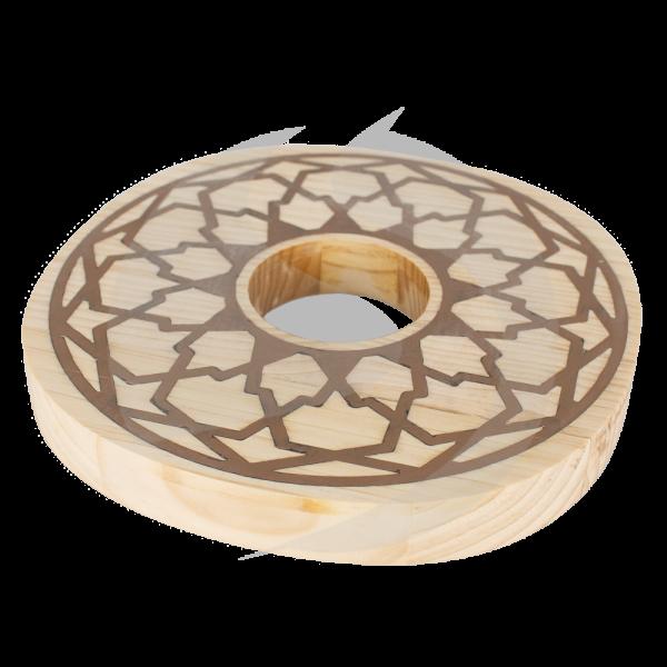 Cyborg Hookah Wood Plate - Mandala