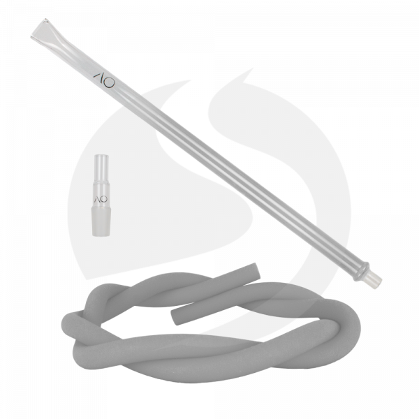 AO Hookah Glasmundstück SET - Flat Silver