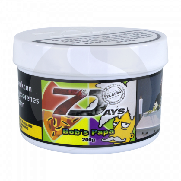 7 Days Tabak Platin 200g - Bob's Papa