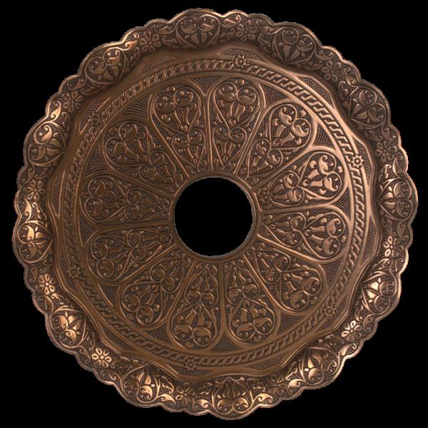 Kaya Tebzi Teller Oriental Bronze 22cm