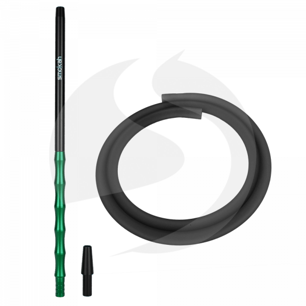 Smokah Futuro Alumundstück + Schlauch SET - Black/Green