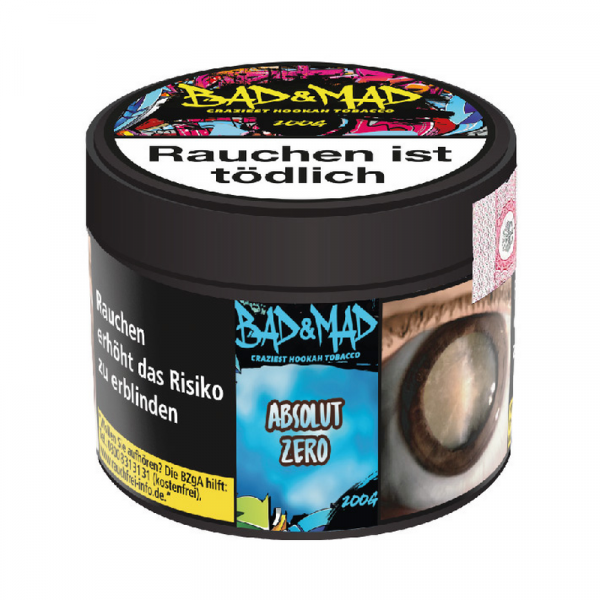 Bad & Mad Tobacco 200g - Absolut Zero