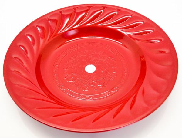 Riesen-Kohleteller verziert 30cm - Rot