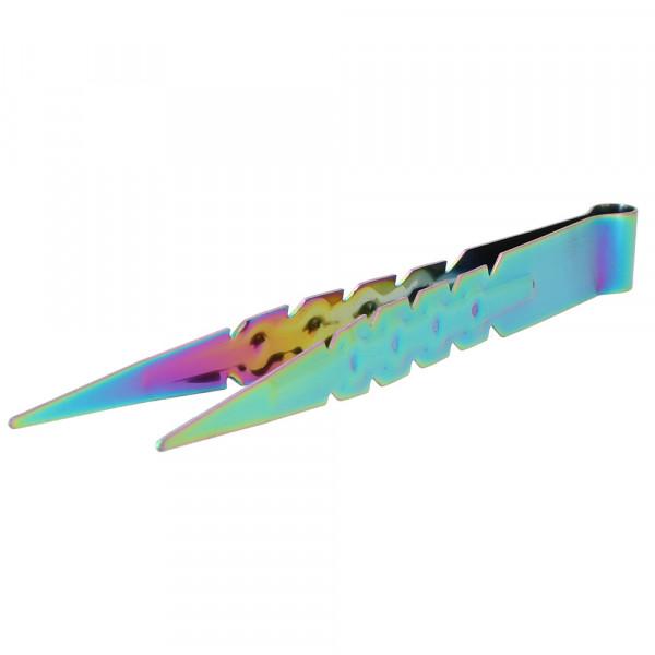 AO Edelstahl Kohlezange 22cm - Rainbow