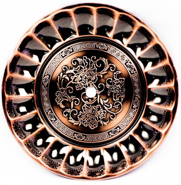 Amy Riesen-Kohleteller 30cm verziert Kupfer