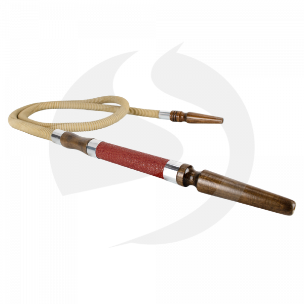 CRT Lederschlauch - Red/Silver