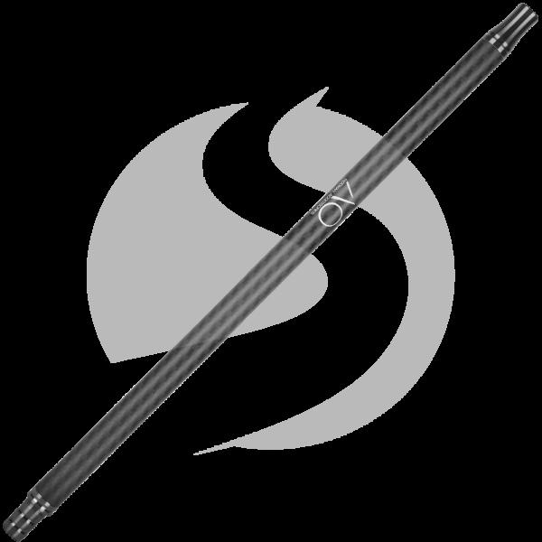 AO Carbon Mundstück Edelstahl V2A - Gun Metal/Matt Schwarz