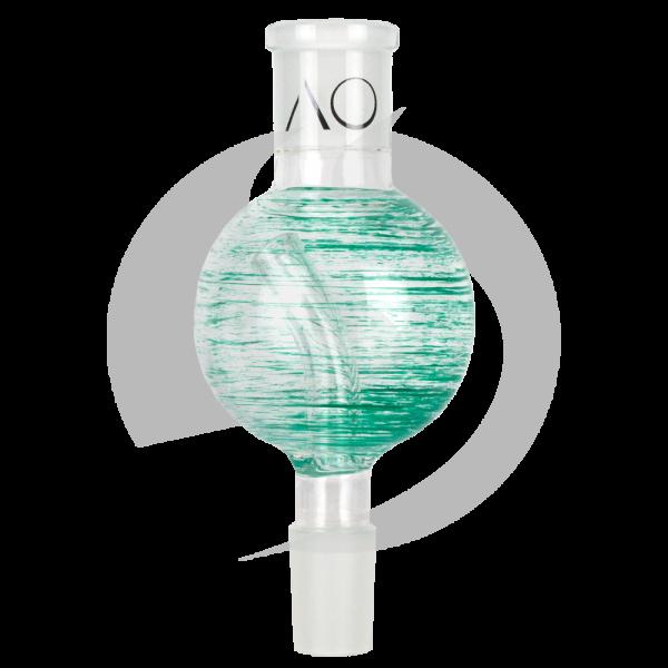AO Glas Molassefänger 18/8 Kugel 60mm - Tiger Grasgrün