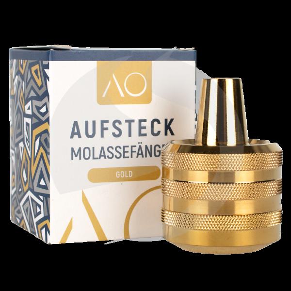 AO Aufsteckmolassefänger - Edelstahl Gold