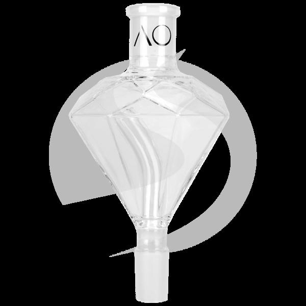 AO Glas Molassefänger 18/8 Diamond - Clear