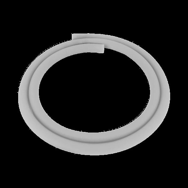 Silikonschlauch Matt - Silber