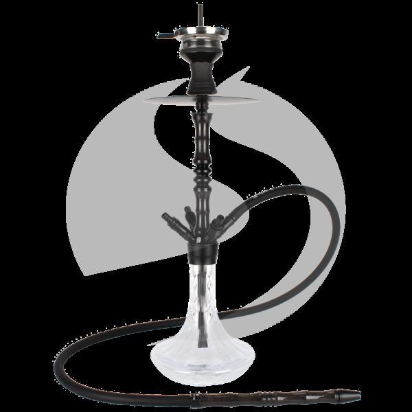 Cyborg Hookah Prince of Wood - Black Red Saudi