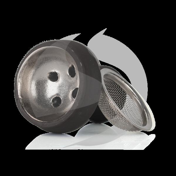 Amy Deluxe Steintabakkopf mit Sieb - Silber