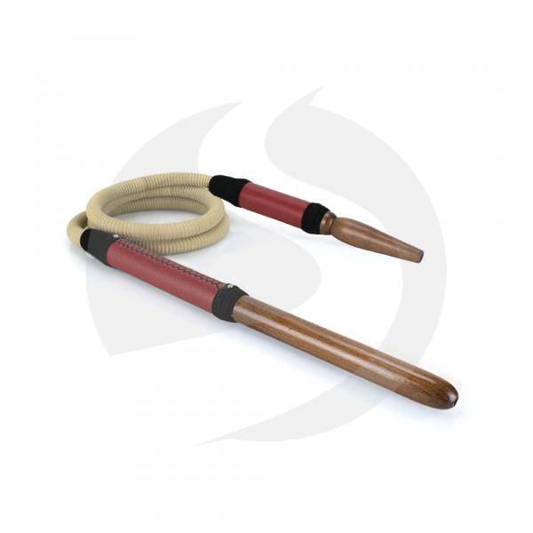 Tradi Schlauch Holz&Leder - Bordeaux Rot