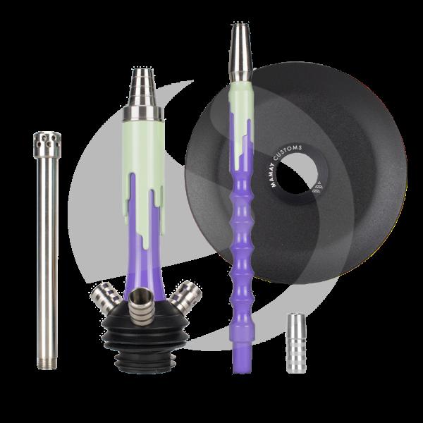 Mamay Customs Flow Micro Rauchsäulenset - Purple/Turquoise