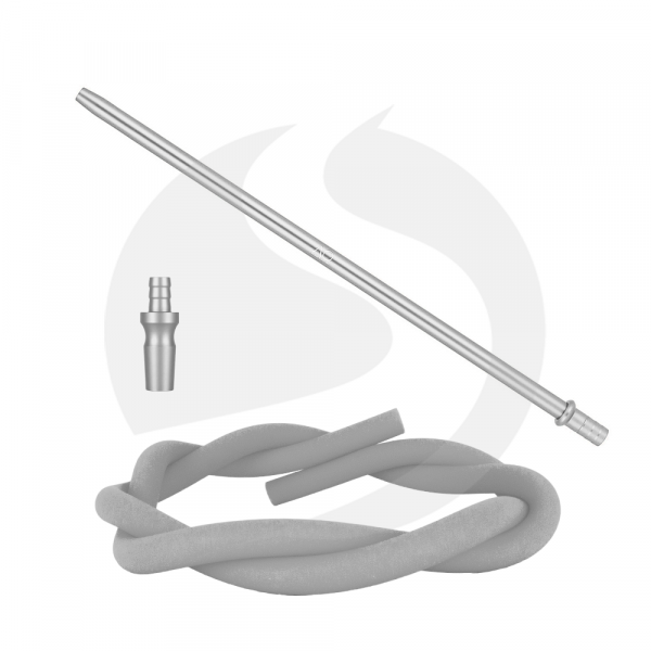 AO Hookah Alu Slim Liner Schlauchset - Silber 18/8