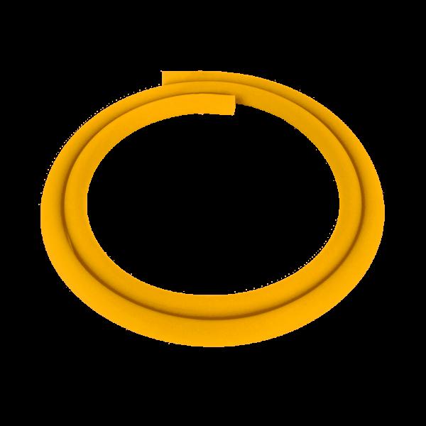 Silikonschlauch Matt - Gelb