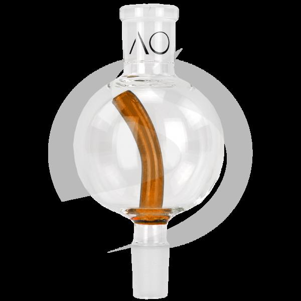 AO Glas Molassefänger 18/8 Kugel 75mm - Stem Amber