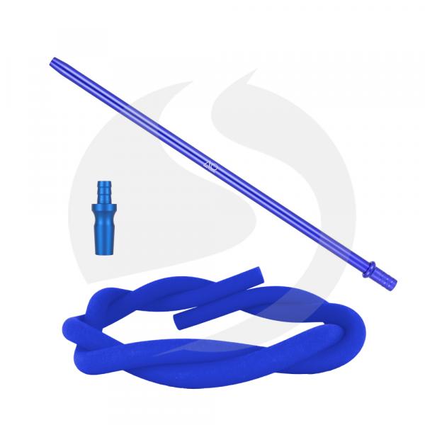 AO Hookah Alu Slim Liner Schlauchset - Blau 18/8