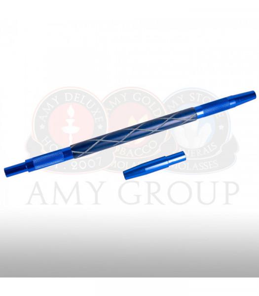 AMY Aluminiummundstück mit Holzgriff MSAL021 - Blau