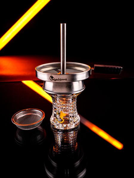 Dschinni Glaskopf Nero Pro (mit Seflex & Kaminaufsatz)
