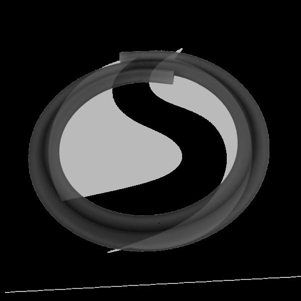Silikonschlauch Matt - Schwarz