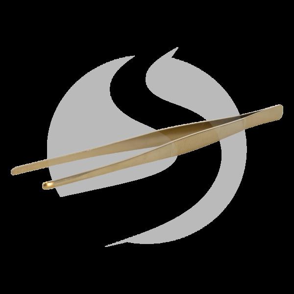 AO Kohlepinzette Edelstahl 30cm - Gold