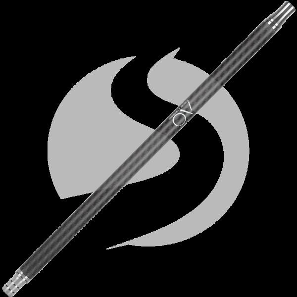 AO Carbon Mundstück Edelstahl V2A - Matt Schwarz