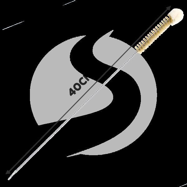AO Rauchsäulenbürste 40cm (Ø=15mm) mit Wollkopf Weiß
