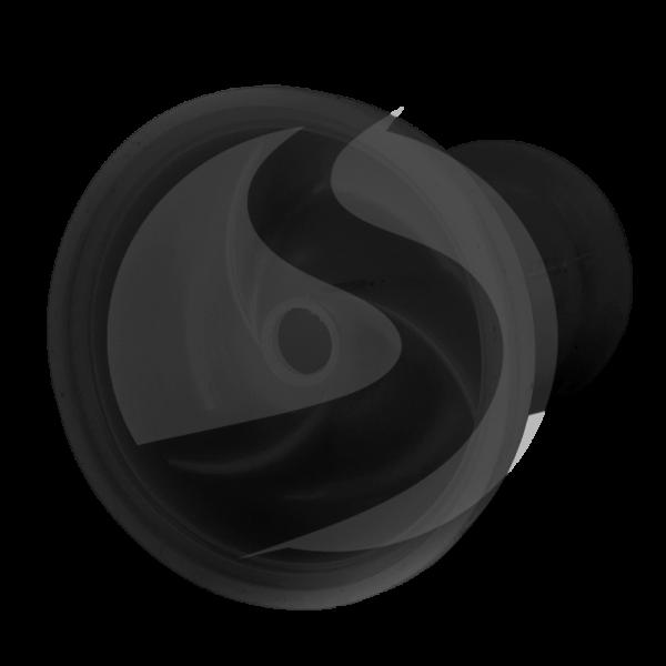 Amy Deluxe Silikontabakkopf (3 kammern) - Schwarz