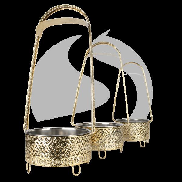 Khalil Mamoon Kohlebehälter - Turm Gold 3er Pack
