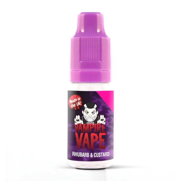 Vampire Vape E-Liquid 10ml 0mg - Rhubarb and Custard