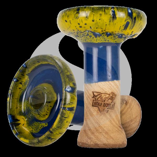 Wolf Bowls Phunnel - Blue/Yellow