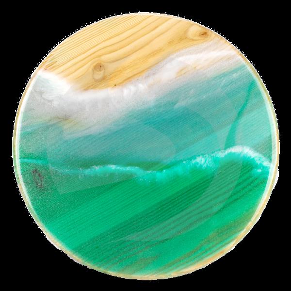 First Hookah Dark Board Round - Green Atlantic