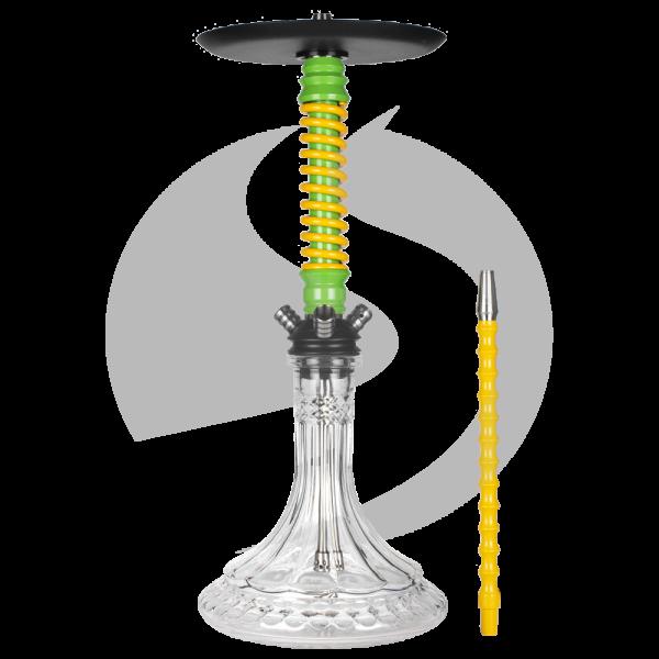 Mamay Customs Coilover Shisha - Green/Yellow(ZB13)