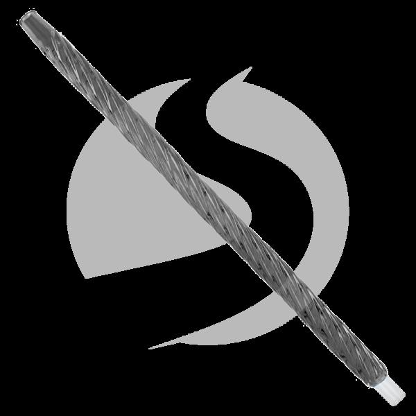 CRT Glasmundstück Twist (Rund) - Schwarz