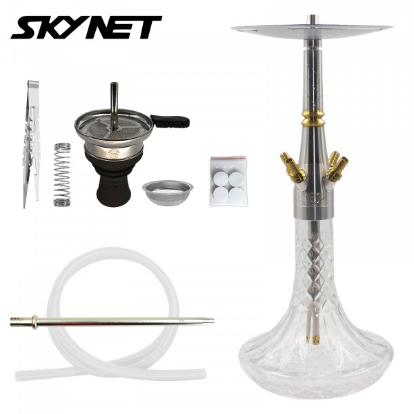 Skynet Shisha Reloaded 722 Edelstahl - Clear