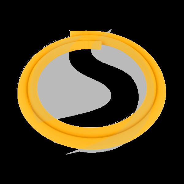 Luna Silikonschlauch - Gelb