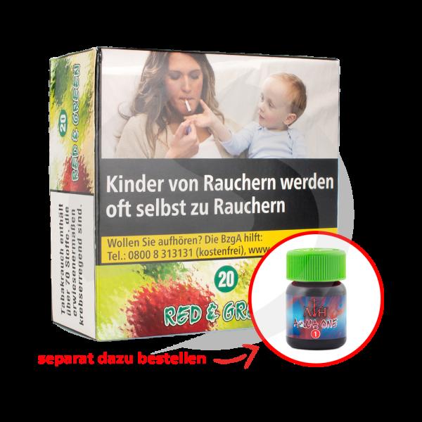 Aqua Mentha Premium Tobacco 200g - Red & Green (20)